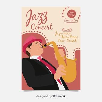 Abstrakte jazz musik plakat vorlage