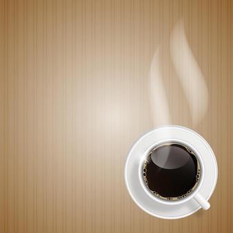 Abstrakte kaffeehintergrund-vektorillustration