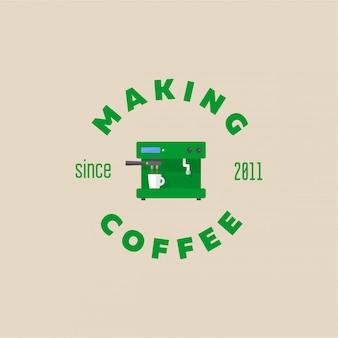 Abstrakte kaffeemaschine
