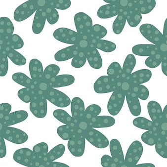 Abstrakte kamille blüht nahtloses muster. blumendruck mit gänseblümchen. gänseblümchen-feld. frühlingsdesign für stoff, textildruck, geschenkpapier