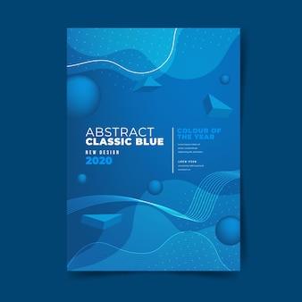 Abstrakte klassische blaue fliegerschablone