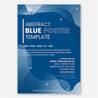 Abstrakte klassische blaue flugblattschablone