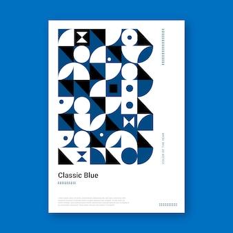 Abstrakte klassische blaue plakatschablone