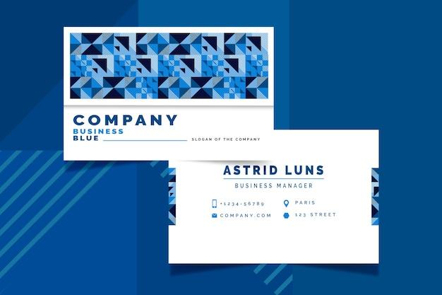 Abstrakte klassische blaue visitenkartenschablone