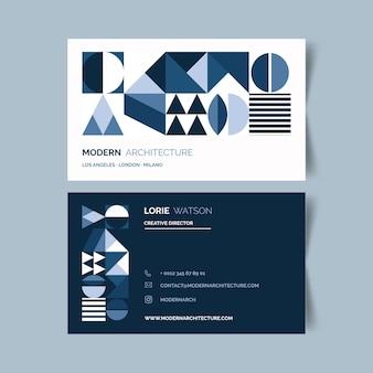 Abstrakte klassische blaue visitenkarteschablone