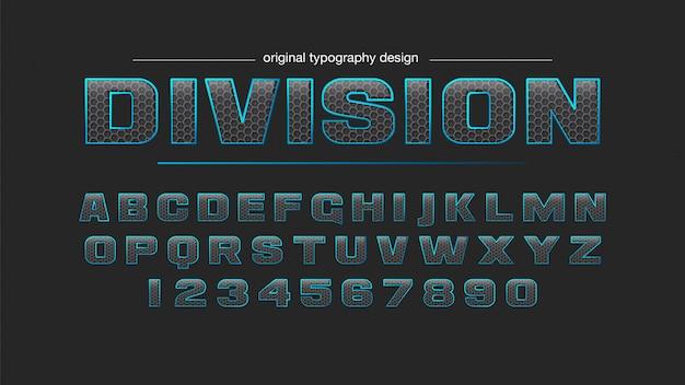 Abstrakte kohlenstofffaser-patter-typografie