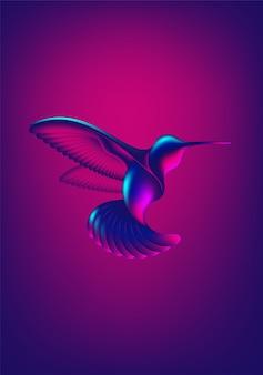 Abstrakte kolibri-form