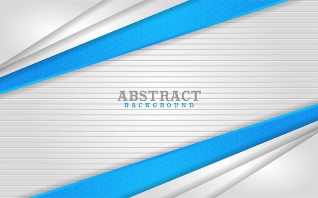 Abstrakte kombination aus weißen und blauen linien im hintergrunddesign