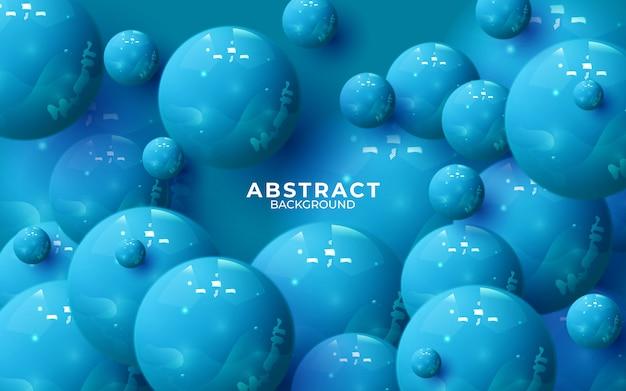 Abstrakte komposition mit 3d-kugelcluster. bunt glänzende blasen. vektor realistische darstellung der kugeln. trendiges banner- oder plakatdesign. futuristischer hintergrund