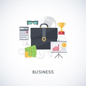 Abstrakte komposition von business-sachen