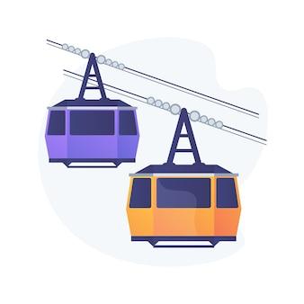Abstrakte konzeptdarstellung des kabeltransports