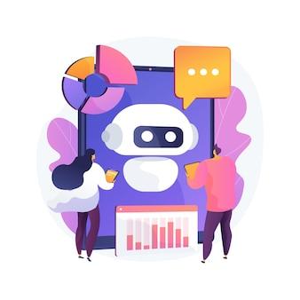 Abstrakte konzeptillustration der chatbot-entwicklungsplattform