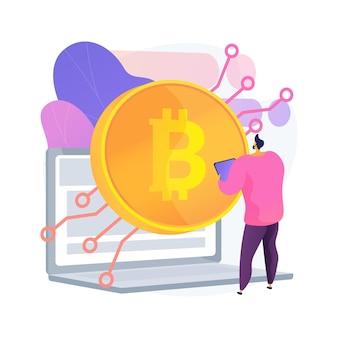 Abstrakte konzeptillustration der digitalen währung