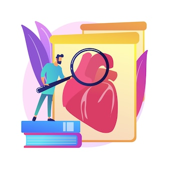 Abstrakte konzeptillustration der im labor gewachsenen organe. im labor gezüchtete stammzellen, bioartifizielle organe, künstliche menschliche körperteile, wachsende transplantation im labor, biotechnik.