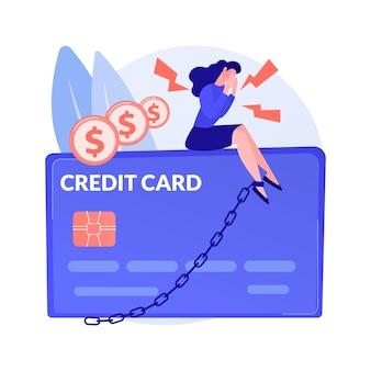 Abstrakte konzeptillustration der kreditkarte