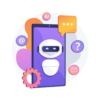 Abstrakte konzeptillustration der künstlichen intelligenz chatbot