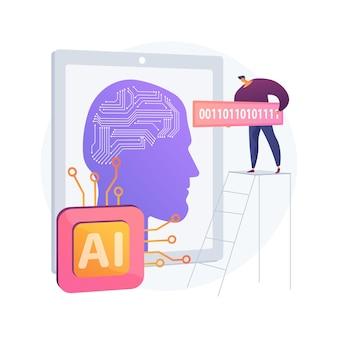 Abstrakte konzeptillustration der künstlichen intelligenz