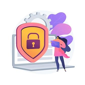 Abstrakte konzeptillustration des cybersicherheitsrisikomanagements