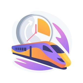 Abstrakte konzeptillustration des hochgeschwindigkeitstransports