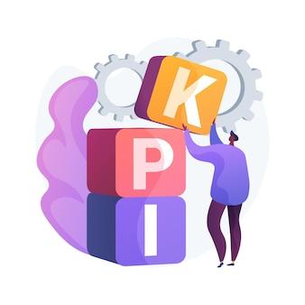 Abstrakte konzeptillustration des kpi
