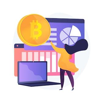 Abstrakte konzeptillustration des kryptowährungsmarktes