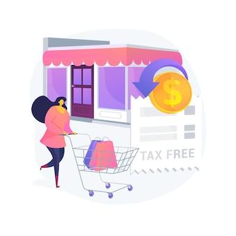 Abstrakte konzeptillustration des steuerfreien dienstes
