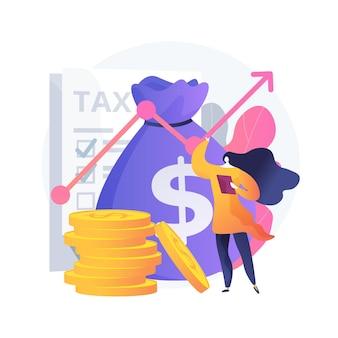 Abstrakte konzeptillustration des steuerpflichtigen einkommens