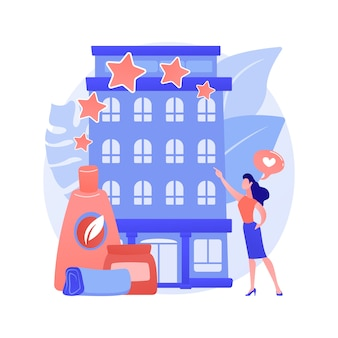 Abstrakte konzeptillustration des wellness- und spa-hotels