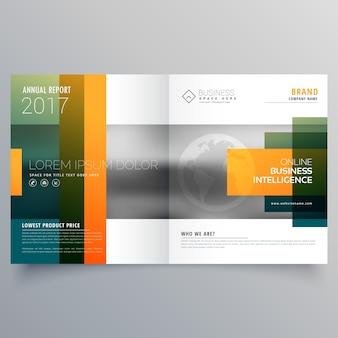Abstrakte kreative bi-fold broschüre vorlage oder magazin cover seite design