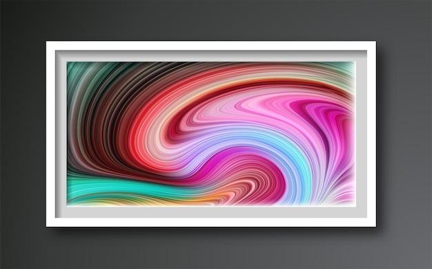 Abstrakte kreative trendige künstlerisch gemalte komposition