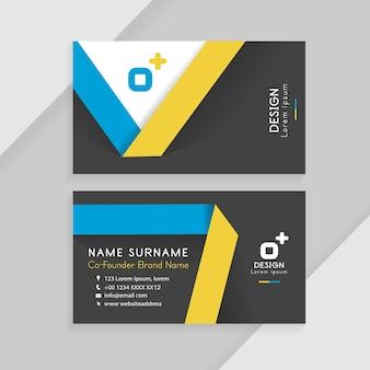 Abstrakte kreative visitenkarten. business identity card template-konzept.