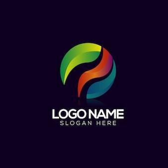 Abstrakte kreis logo vorlage