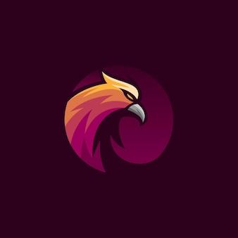Abstrakte kreisadler-logo-schablone