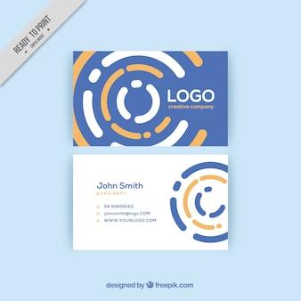 Abstrakte kreise corporate card