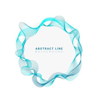 Abstrakte kreise linien rundes rahmendesign lokalisiert auf weißem hintergrund