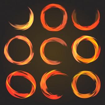 Abstrakte kreisförmige sammlung