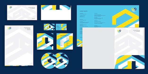 Abstrakte kreuzlinien moderne corporate business identity stationär