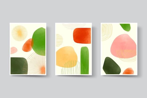 Abstrakte kunst deckt sammlung