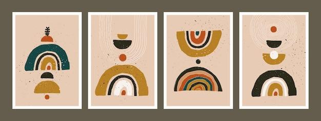 Abstrakte kunst minimalistische poster eingestellt