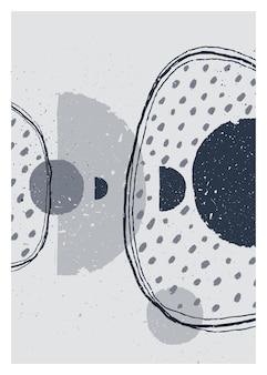 Abstrakte kunst monochromes minimalistisches poster