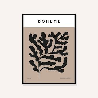 Abstrakte kunstdrucke im boho-stil poster sammlung