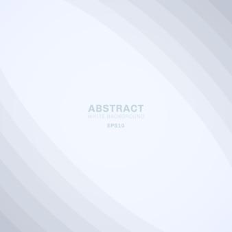 Abstrakte kurve zeichnet eleganten weißen hintergrund