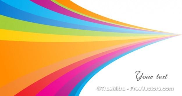 Abstrakte kurven farbigen streifen