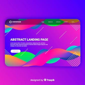 Abstrakte landing-page-vorlage