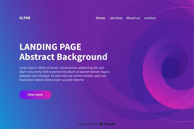 Abstrakte landing page