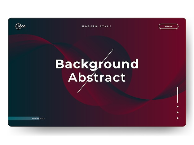 Abstrakte landing pages