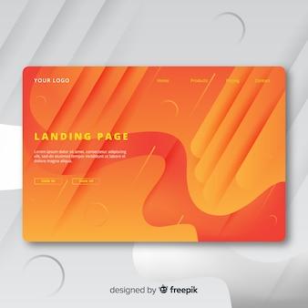 Abstrakte landingpage