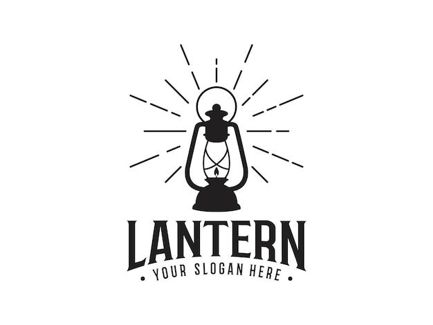 Abstrakte laterne vintage logo design vorlage