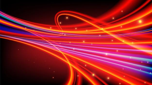 Abstrakte lichtspuren im vektor