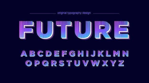 Abstrakte lila linien typografie